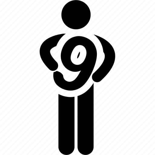 holding, man, nine, number icon