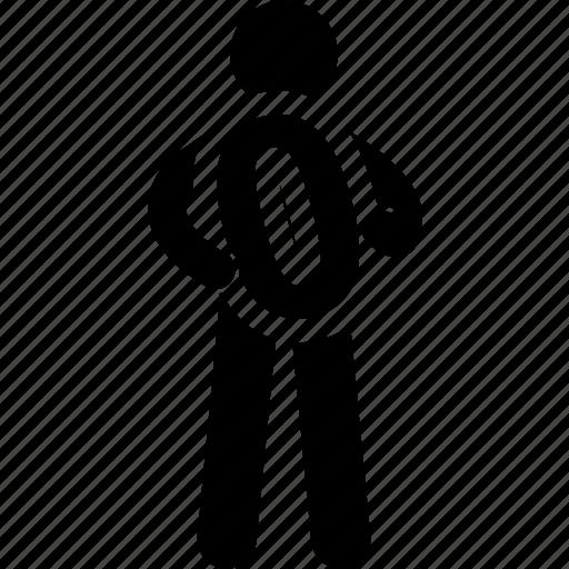 holding, man, nil, number, zero icon