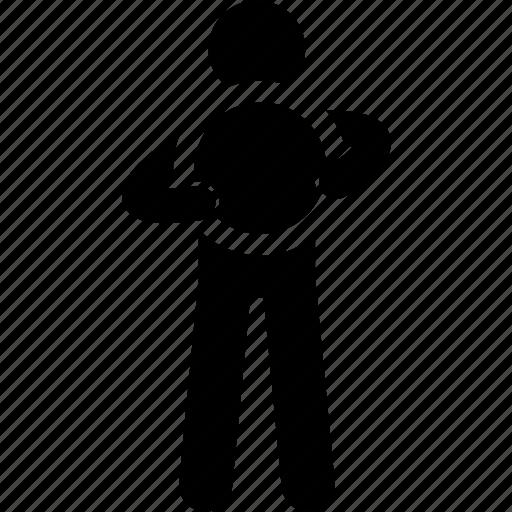 circle, holding, man, round icon