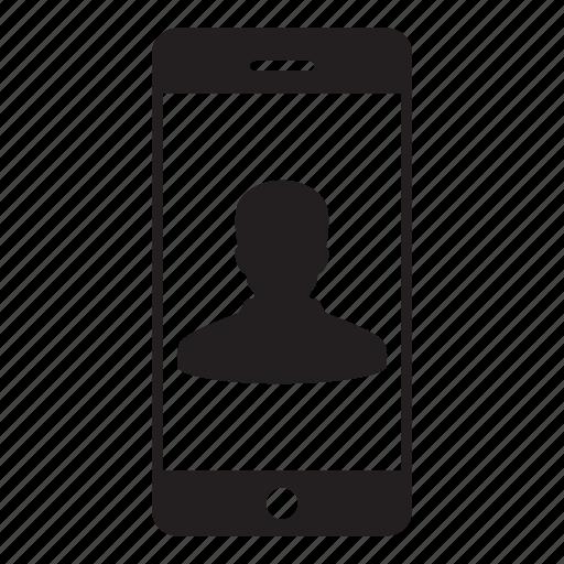 avatar, login, mobile, person, profile, smartphone, user icon