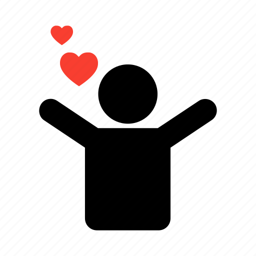heart, hearts, love, lovestruck, man, minimal, valentine icon