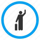 hitchhike, hitchhiking, passenger, tourist, vote, voter, voting person icon