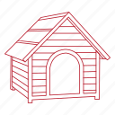 animal, dog, house, outside, pet, shelter, yard icon