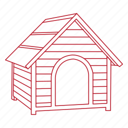 animal, dog, house, outside, pet, shelter, yard icon