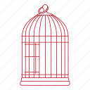 animal, bird, cage, metal, pet, wire icon