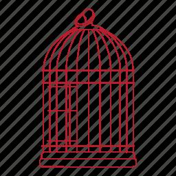 animal, bird, cage, metal, pet, wire icon