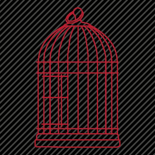 bird, cage, canary, cockatiel, pet icon