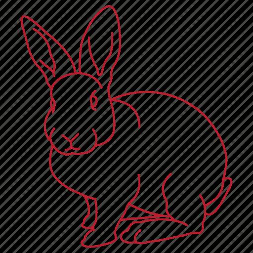 animal, bunny, cage, ears, hop, pet, rabbit icon