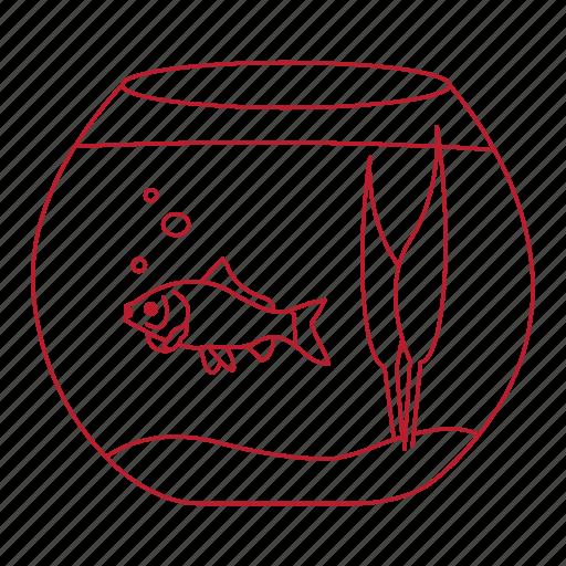 beta, bowl, fish, goldfish, pet, swim, water icon