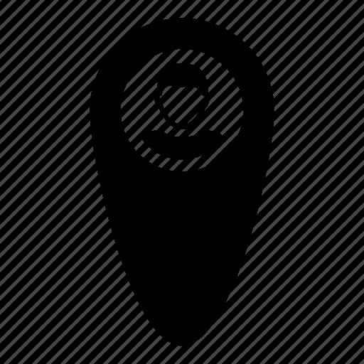 gps, locattion, map, marker, navigation, person, user icon