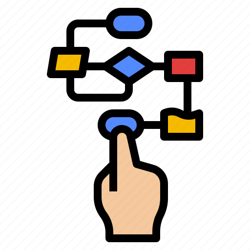 business, flowchart, planning, process, schedule icon