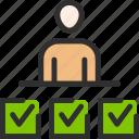 achivement, business, man, management, quiz, task, test