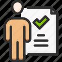 business, management, recommendation, man, check, tick, achivement