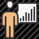 achivement, business, chart, man, management, stats, user
