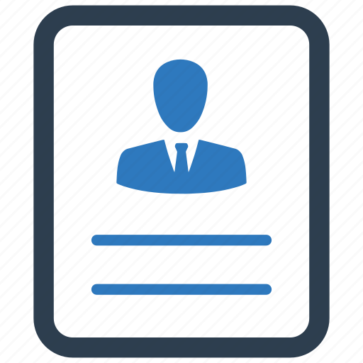 cv, document, employee, hiring, portfolio, profile, resume icon