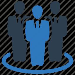 business, businessman, leader, leadership, man, office, team icon