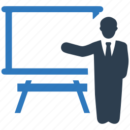 business, empty, man, presentation icon