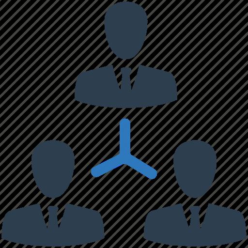 businessmen, management, organisation, organization, teamwork, users icon