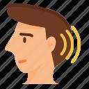 listening, skills, hear, ear, head, equilibrium, sound