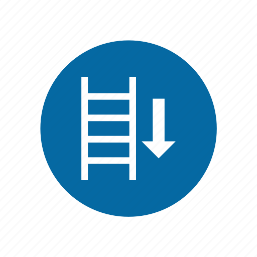 factory, industrial, instruction, ladder, mandatory, safety, signs icon