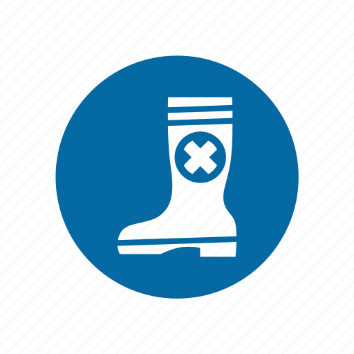 boot, factory, industrial, instruction, mandatory, safety, signs icon