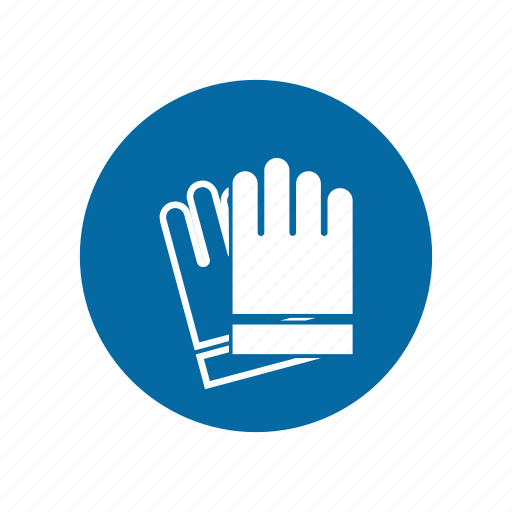 factory, industrial, instruction, mandatory, safety, safety glove, signs icon