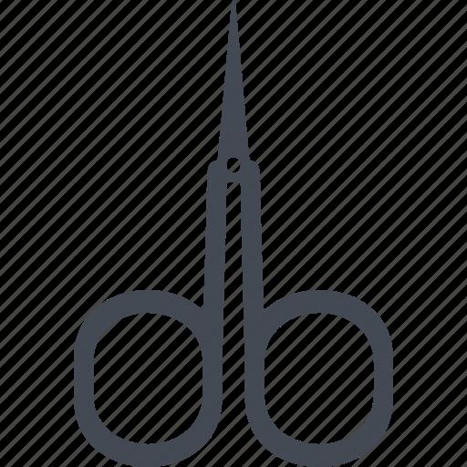 cutting, manicure, nail scissors, scissors, tool icon