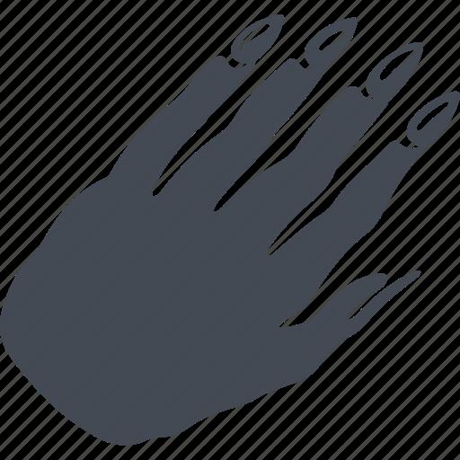 fingers, manicure, nails, wrist icon