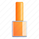 gel, orange, spa, fashion, nail icon