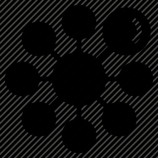 circle, data, diagram, mindmap, planner, round icon