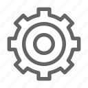 cog, gear, mechanism icon