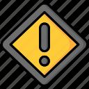 alert, danger, danger sign, exclamation mark, sign icon