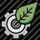 cog, eco, gear, leaf, setting icon