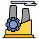 cog, factory, industry, manufacturing, setting icon