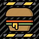 burger, burger making, fast food, food, junk food icon