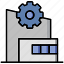 assembling area, industry, manufacturing, manufacturing plant, plant, setting icon
