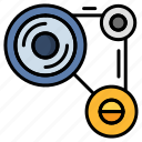 chain, gear, industrial, manufacturing, mechanism icon