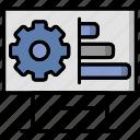 board, planning, scheme, settings, statistics icon