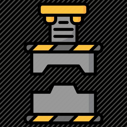 industry, machine, power, power press, press, press machine icon