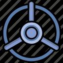 control, lock, locker, steering, valve icon