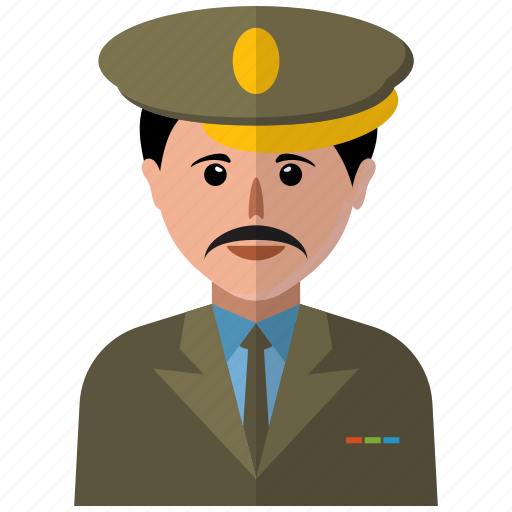 avatar, man, police, user icon