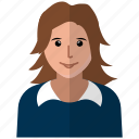 avatar, beautiful, character, female, girl, team member, testimonial icon