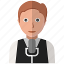avatar, men, music, person, speaker icon