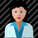 avatar, female, girl, glasses, intelligent, smart, specs icon