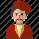 artist, avatar, man, painter, person, profile, user icon