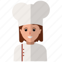 chef, user, woman icon