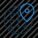 globe, location, map