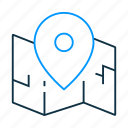 map, location, pin