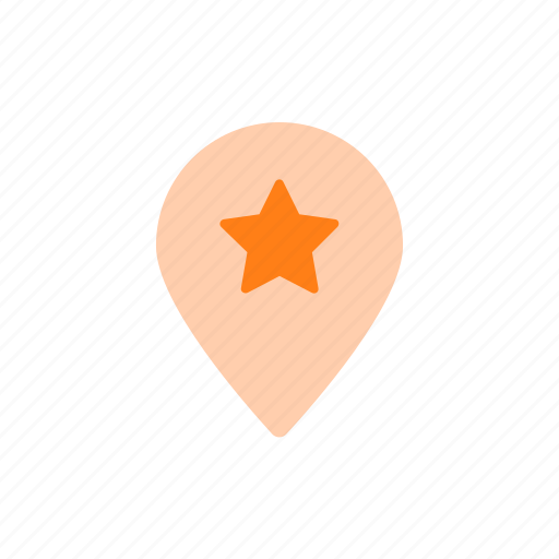 favorite, important, map, map pin, pin, star, tag icon