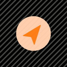 arrow, compass, direction, gps, map, navigation icon